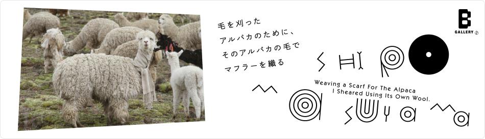 増山士郎 展覧会「毛を刈ったアルパカのために、そのアルパカの毛でマフラーを織る」<Now Exhibition>