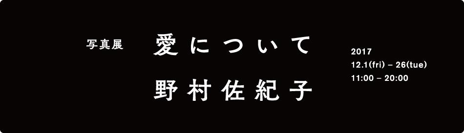 野村佐紀子の写真展『愛について』