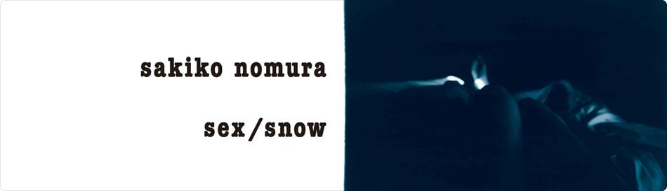 野村佐紀子 写真展 「sex/snow」
