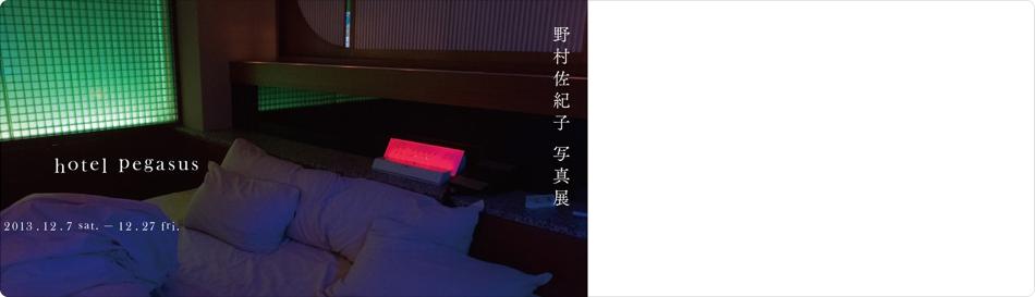 野村佐紀子 写真展 「hotel pegasus」