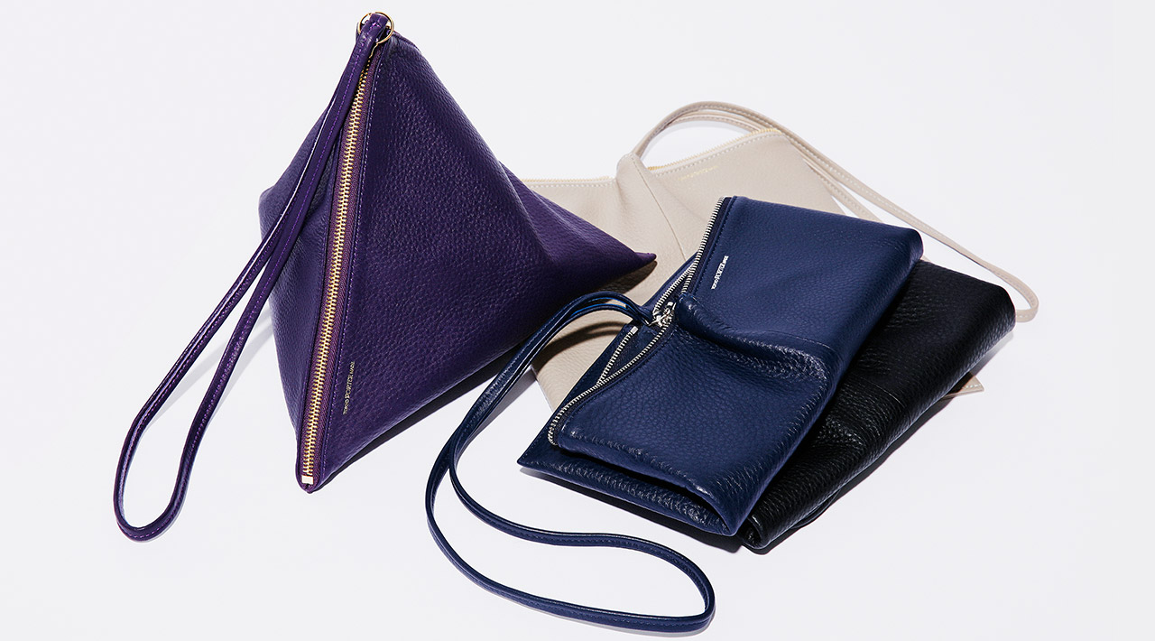"""LOUVRE"" 3WAY TRIANGLE POUCH(L)"