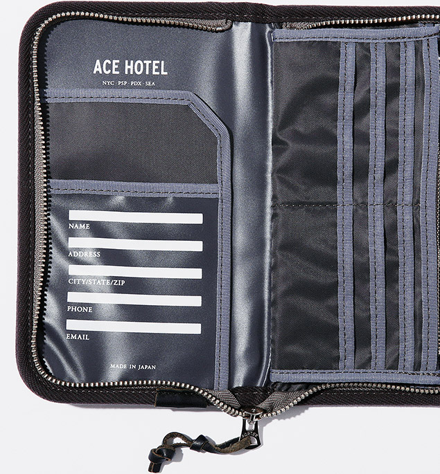 """ACE HOTEL"" TRAVEL WALLET"
